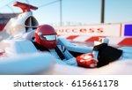 racer of formula 1 in a racing... | Shutterstock . vector #615661178