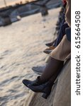feet by the seine | Shutterstock . vector #615664508