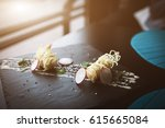 tiger shrimps in chinese... | Shutterstock . vector #615665084