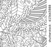tracery seamless pattern....   Shutterstock .eps vector #615665888