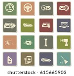 car shop vector icons for user... | Shutterstock .eps vector #615665903
