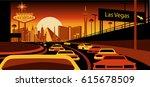 las vegas skyline | Shutterstock .eps vector #615678509