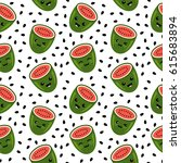 Watermelon Cartoon Seamless...