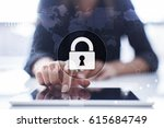 cyber security  data protection ... | Shutterstock . vector #615684749