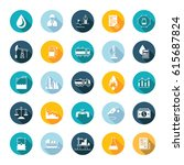set square flat icons and... | Shutterstock . vector #615687824