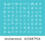 set  line icons with open path... | Shutterstock . vector #615687926