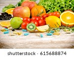 healthy eating  diet  and... | Shutterstock . vector #615688874