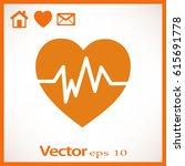 diagnosis of heart icon | Shutterstock .eps vector #615691778