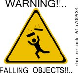 warning falling objects icon | Shutterstock .eps vector #615700934
