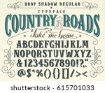 country roads  take me home.... | Shutterstock .eps vector #615701033