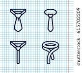 set of 4 dresscode outline...   Shutterstock .eps vector #615702209