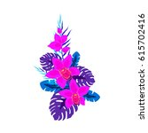 tropical composition with...   Shutterstock .eps vector #615702416
