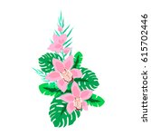 tropical composition with...   Shutterstock .eps vector #615702446