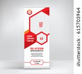 banner roll up design  business ... | Shutterstock .eps vector #615703964
