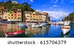 beautiful colorful towns of... | Shutterstock . vector #615706379