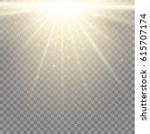 light flare special effect.... | Shutterstock .eps vector #615707174