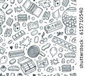 bubble gum seamless pattern.... | Shutterstock .eps vector #615710540