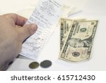 the lack of funds for paying... | Shutterstock . vector #615712430