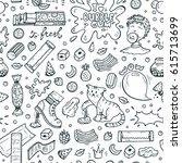 bubble gum vector seamless... | Shutterstock .eps vector #615713699
