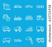 automobile icons set. set of 16 ...   Shutterstock .eps vector #615721928