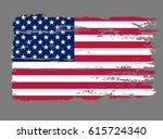 flag usa. american grunge...   Shutterstock .eps vector #615724340