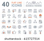 set  line icons in flat design... | Shutterstock . vector #615727514