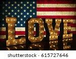 Love America 3d Illustration