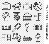 view icons set. set of 16 view... | Shutterstock .eps vector #615727763