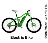 electric bike vector... | Shutterstock .eps vector #615741146