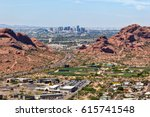 downtown phoenix  arizona... | Shutterstock . vector #615741548