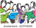 friends group vector...   Shutterstock .eps vector #615743204