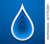 water drop shape. paper art of... | Shutterstock .eps vector #615751364