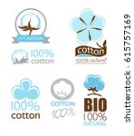 vector cotton icons set... | Shutterstock .eps vector #615757169