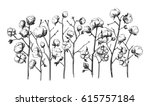 vector hand drawn village... | Shutterstock .eps vector #615757184