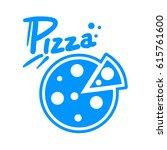 pizza symbol | Shutterstock .eps vector #615761600
