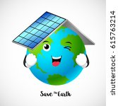 globe character with roof of... | Shutterstock .eps vector #615763214