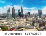 panoramic aerial view of london ... | Shutterstock . vector #615763574