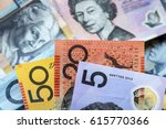 australian money background. ... | Shutterstock . vector #615770366