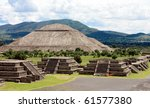 view of pyramids in teotihuacan ... | Shutterstock . vector #61577380