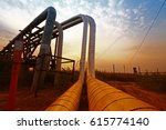 oil pipeline  the oil industry... | Shutterstock . vector #615774140