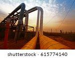 oil pipeline  the oil industry...   Shutterstock . vector #615774140