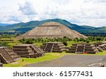 view of pyramids in teotihuacan ... | Shutterstock . vector #61577431