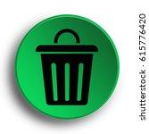 trash can icon. internet button.... | Shutterstock . vector #615776420