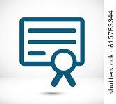 certificate icon | Shutterstock .eps vector #615783344