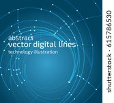 vector abstract background.... | Shutterstock .eps vector #615786530