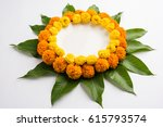 flower rangoli made using... | Shutterstock . vector #615793574
