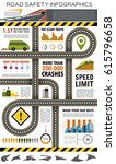 road and traffic safety... | Shutterstock .eps vector #615796658