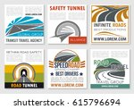 road travel and traffic safety... | Shutterstock .eps vector #615796694