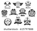 darts club or sport competition ... | Shutterstock .eps vector #615797888