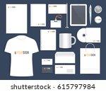 corporate identity template.... | Shutterstock .eps vector #615797984